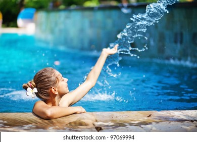 young woman in swimming pool
