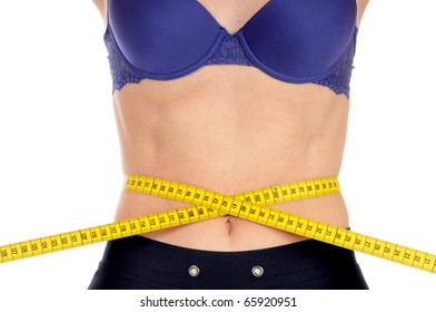 A young woman with tape measure