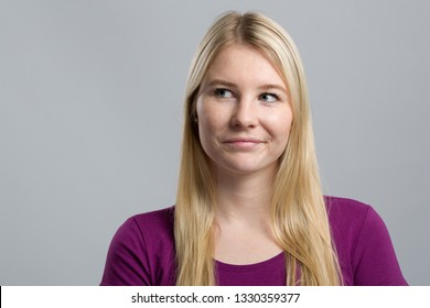 young woman is thinking