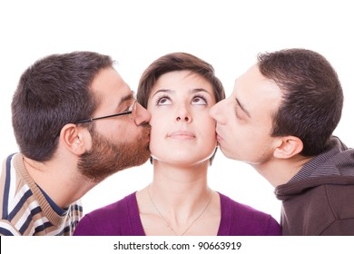 Young Woman and Two Men