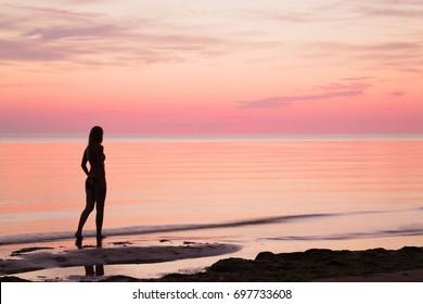 Latinos evening walk along the coast
