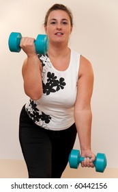 Young woman wants to reduce overweight.