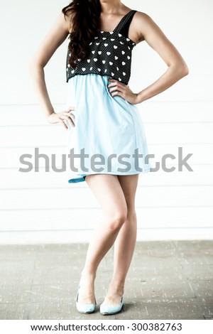 ccfe2b984be3b Young Woman Wearing Blank Sleeveless Tshirt Young Stock Photo (Edit ...