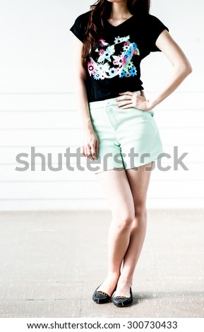 6671ec245fedc Young Woman Wearing Blank Sleeveless Tshirt Young Stock Photo (Edit ...