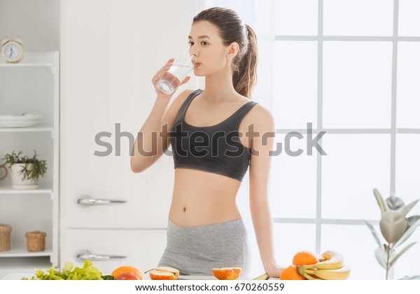 Young Woman Weight Loss Perfect Body Stock Photo Edit Now 670260559