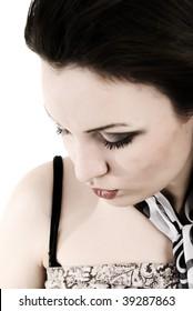 Young woman: windy fashion