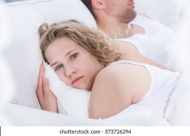 Young woman worried by problems in the relationship