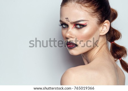 Young Woman Zodiac Sign Scorpion Stock Photo (Edit Now
