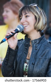 young woman-speaker