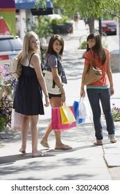 Young women on a shopping trip