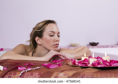 Young Women Relaxing in the Spa