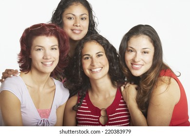 Young women smiling for the camera