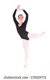 Young wonderful ballerina posing