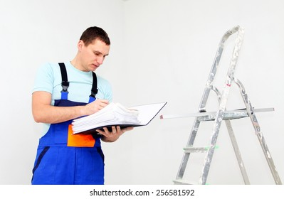 Young worker with documents