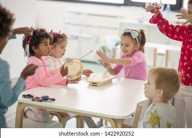 The youngest and cuties music band. Children in preschool.