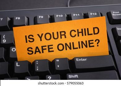 Is your child safe online? Internet safety concept.