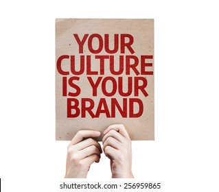 Your Culture is Your Brand card isolated on white background