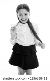 Your hair has been waiting all summer for this moment. Schoolgirl pupil long curly hair. Cute hairstyles back in school. Gorgeous tails perfect for every day week. Hairstyle schoolgirl nice and easy.