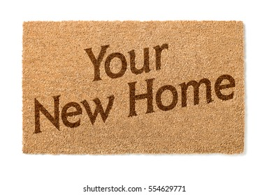 Your New Home Welcome Mat Isolated On A White Background.