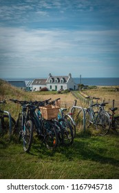 A Youth Hostel on the Isle of Iona With Bicycles in the Foreground