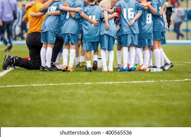 Youth soccer football team. Group photo.