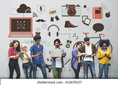 Youth Social Media Technology Lifestyle Concept