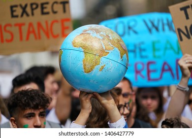 Youth strike for climate march Friday for Future, Turin, Italy - May 2019