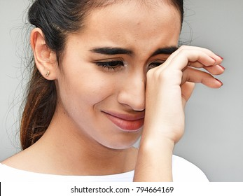 Youthful Girl Teenager Crying