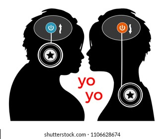 Yo-yo effect. Woman with repeated loss and regain of body weight. The brain is to blame for the weight cycling.
