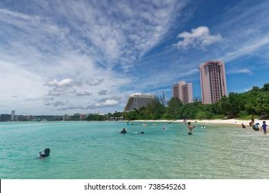 Ypao Beach Park, Tumon bay, Guam island