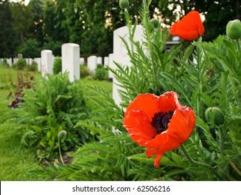 Ypres Reservoir Cemetery in West Flanders, Belgium