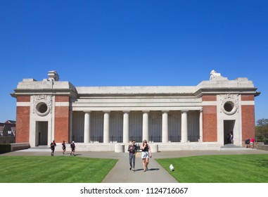 Menin gate images stock photos vectors 10 off shutterstock ypresieper belgium may 6 2018 a male and female freerunsca Image collections