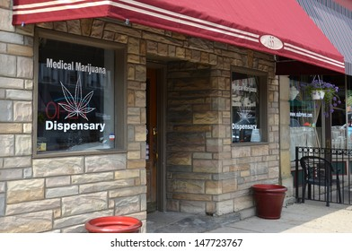 YPSILANTI, MI - JULY 3: Medical marijuana dispensaries, such as this one in Ypsilanti, MI, shown July 3, 2013, started opening after the Michigan Medical Marijuana Act was passed in 2008.