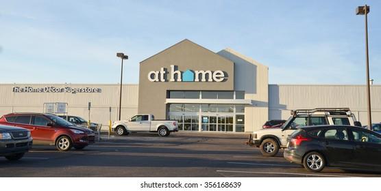 YPSILANTI, MI - OCTOBER 10: At Home, whose Ypsilanti, MI store is shown on October 10, 2015, has over 80 stores.