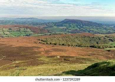 Ysgyryd Fawr (Skirrid Fawr) from Sugar Loaf Sumit Abergavenny, Monmouthshire, Wales