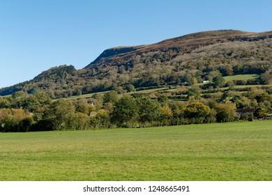 Ysgyryd Fawr (Skirrid Fawr) viewed from A465, Abergavenny, Monmouthshire, Wales