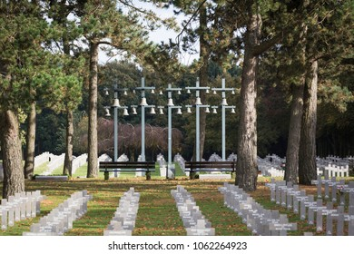 Ysselsteyn, Noord-Limburg / Netherlands - October 27 2013: Carillion at the German military cemetery
