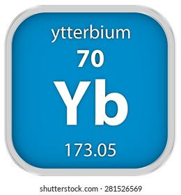 Ytterbium yb element periodic table vector stock vector hd royalty ytterbium material on the periodic table part of a series urtaz Images