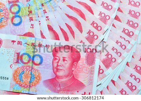 Yuan Rmb Chinese Currency Stock Photo Edit Now 306812174