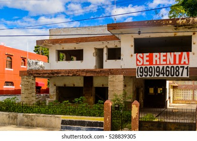YUCATAN, MEXICO - NOV 4, 2016: Architecture of Merida, the capital and largest city of the Mexican state of Yucatan