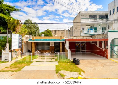 YUCATAN, MEXICO - NOV 4, 2016: Street in Merida, the capital and largest city of the Mexican state of Yucatan