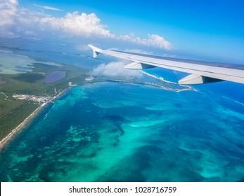 Yucatan Peninsula from the sky, Mexico