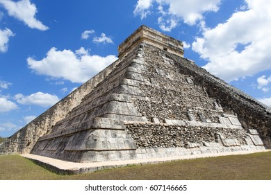 Yucatan state, MEXICO - MARCH 1. El Castillo. Chichen Itza is one of the most visited archaeological sites in Mexico. Image taken on March 2017.