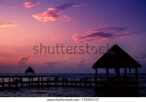 Yucatan sunrise, Akumal, Riviera Maya, Mexico