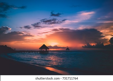 Yucatan sunrise, Akumal, Tulum, Riviera Maya, Mexico
