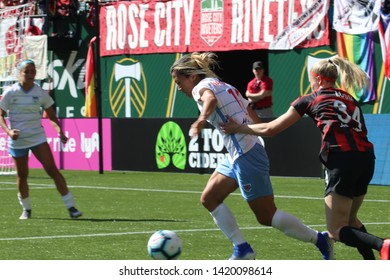 Yuki Nagasato forward for the Chicago Red Stars at Providence Park in Portland, Oregon/USA June 2nd,2019.
