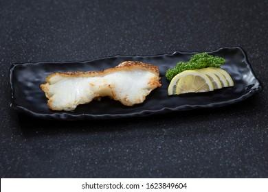 Yukiuo teri snow fish grilled on dish Japanese food style