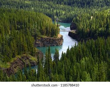 Yukon river near Whitehorse - Miles Canyon, Yukon, Yukon Territory, Canada