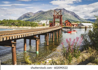 Yukon style of life in community Carcross, Canada.  Close to Chilkoot Trail, Skagway Alaska, White Pass, Pine lake and Yukon Railway.Alaska highway, Klondike highway, Tagish road. Klondike gold rush.