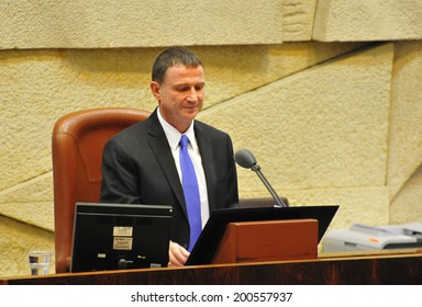 Yuli Edelstein, the speaker of the Knesset during president's elections. Jerusalem, Israel, June 10, 2014. Stock photo image illustration.